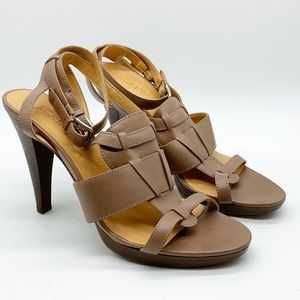 J. CREW MADE IN ITALY LEATHER STRAPPY SANDAL 8.5